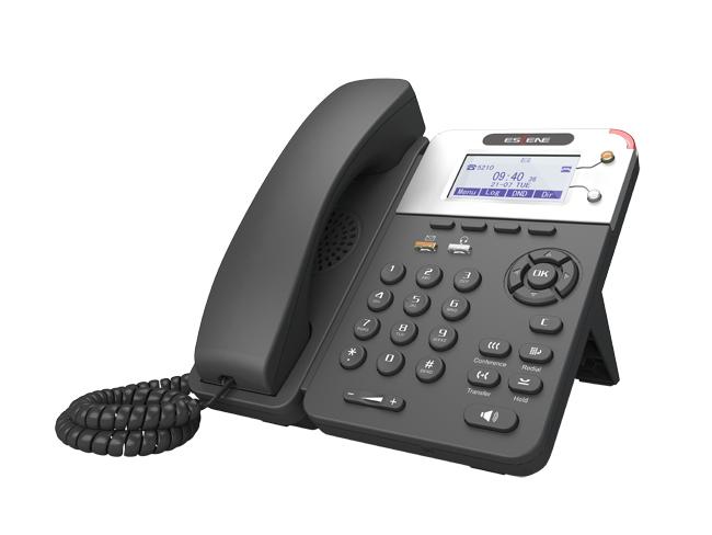 SIP-телефон Escene ES280-PV4 2 SIP аккаунта, 132x64 LCD-дисплей, XML/LDAP, регулируемая подставка, крепление на стену, разъемы для гарнитуры (RJ9), 2 mr2920 sip 7