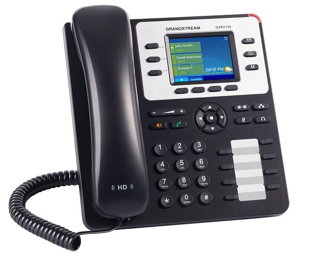 Телефон IP Grandstream GXP2130V2 3 линий и 3 SIP-аккаунтов 2x10/100/1000Mbps LCD PoE телефон ip grandstream gxp 1630 3 линии 3 sip аккаунта 2x10 100 mbps lcd poe blf