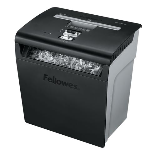 Шредер Fellowes P48C  кл. секр 3, авт., фрагменты 3.9x50мм, 8 лиcт., скрепки, скобы, пл. карты, графит, 18лтр., селектор листо