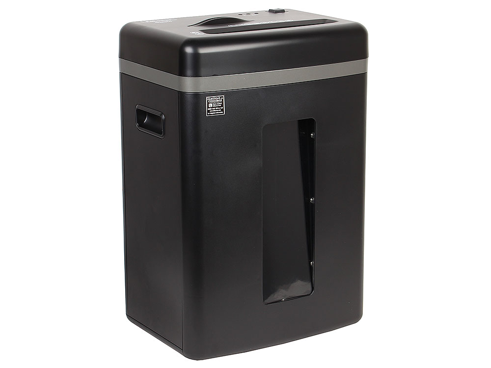 Шредер Fellowes MicroShred 450M, DIN P-5, 2х12мм, 9лст.,22лтр., уничт.: скобы, пл.карты, CD шредер fellowes microshred 450m