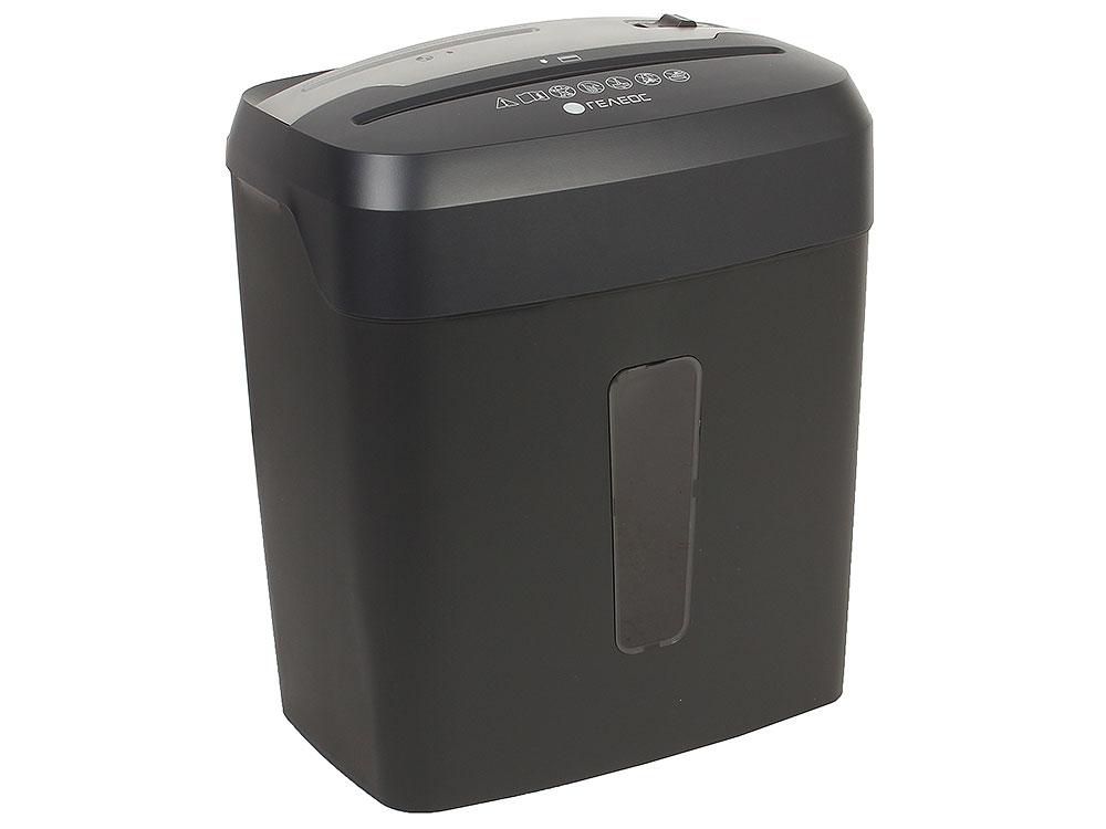 Шредер ГЕЛЕОС УП14-4 (DIN P-4) фрагмент 3,9x35мм, 9 листов (70гр./м2), 15 литров, Уничт.скобы,скрепки,пл.карты,CD