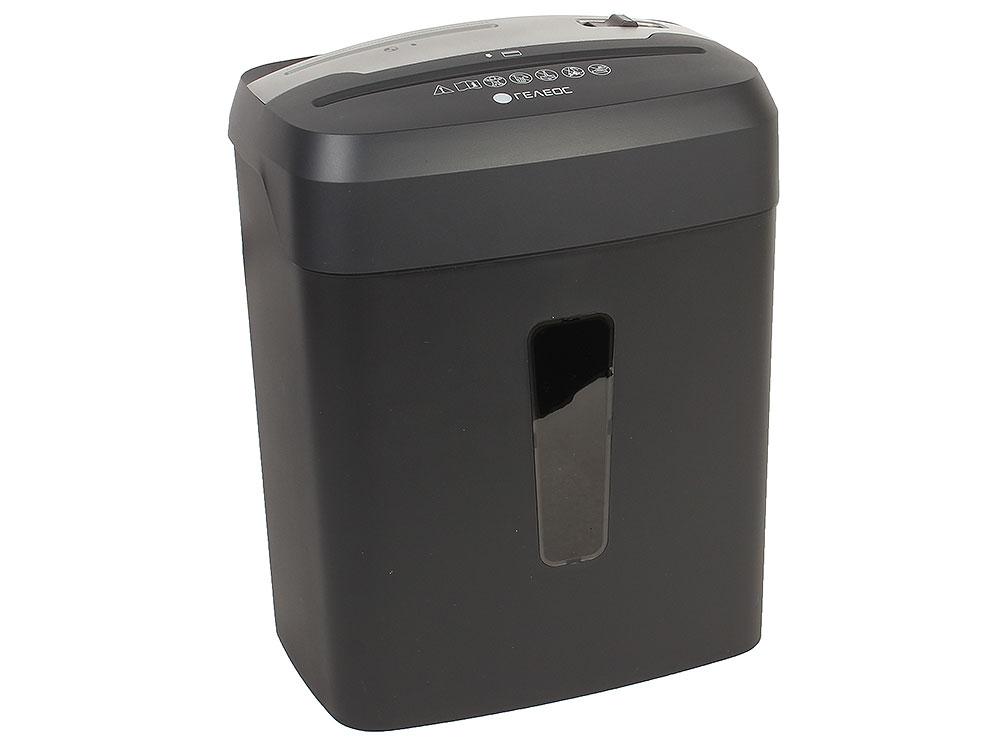 Шредер ГЕЛЕОС УП15-4 (DIN P-4) фрагмент 3,9x30мм, 11-12 листов (70гр./м?), 15 литров, Уничт.скобы,скрепки,пл.карты,CD