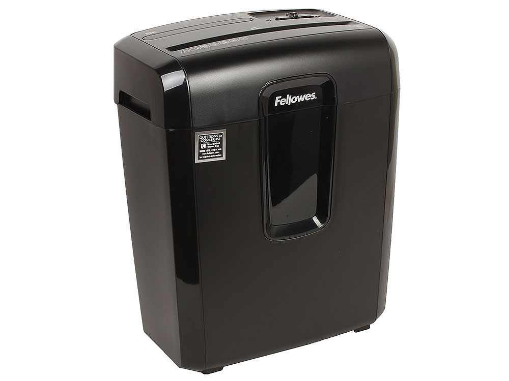 Шредер Fellowes PowerShred 8C, DIN P-4, 4х35мм, 8лст., 14лтр.,уничт.: скобы,скр., пл.карты fellowes powershred h 8c black шредер