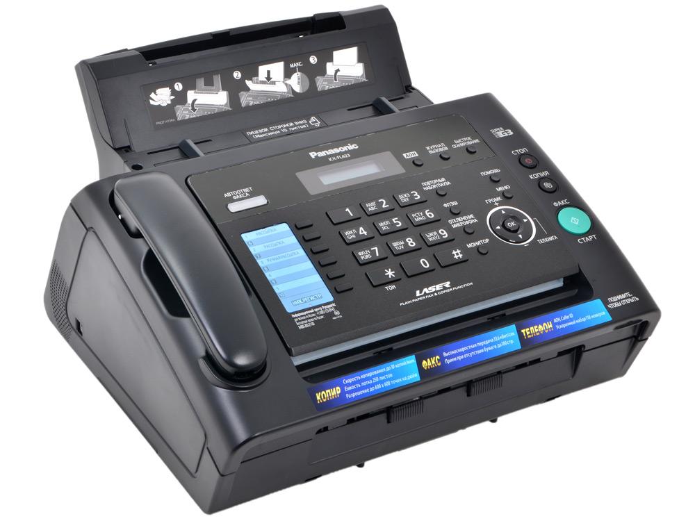 Факс Panasonic KX-FL423RU Black (лазерный) (Обычная бумага А4) panasonic kx fl423ru лазерный белый