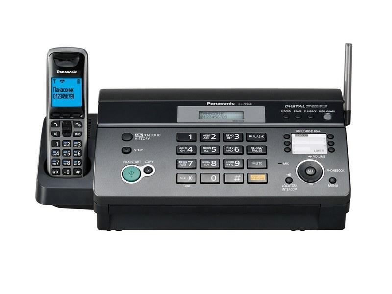 Факс Panasonic KX-FС968RU-T (термо бумага, DECT, АОН, а/о, спикер)
