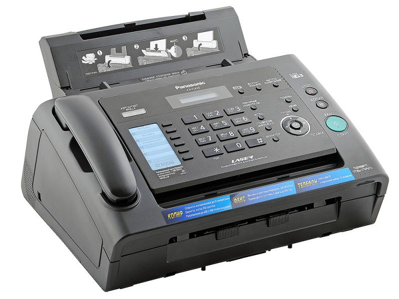 Факс Panasonic KX-FL423RUB черный
