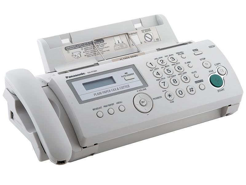 все цены на Факс Panasonic KX-FP207RU термоперенос белый онлайн