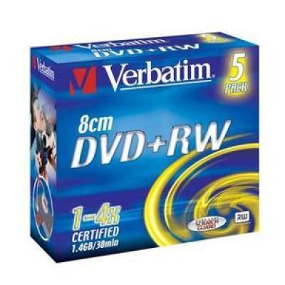 Диск mini DVD+RW 1.4Gb Verbatim 4x Jewel