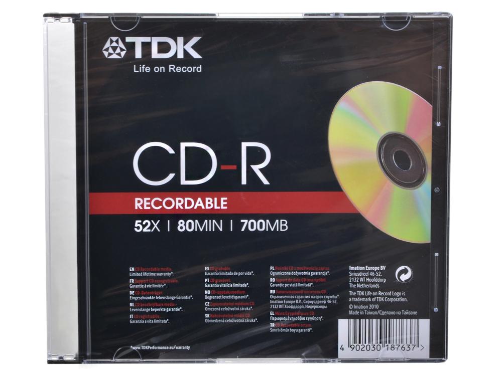 CD-R ТDK 700Mb 52x Slim