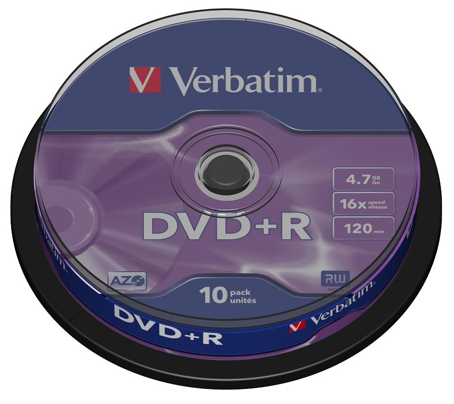 DVD+R Verbatim 4.7Gb 16x 10шт Cake Box cd r verbatim 700mb 52x extra protection 10шт shrink