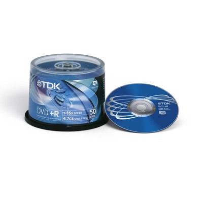 DVD+R TDK 4.7Gb 16x 50шт Cake Box