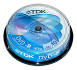 DVD-R TDK 4.7Gb 16x 10шт Cake Box dvd r tdk 4 7gb 16x slim