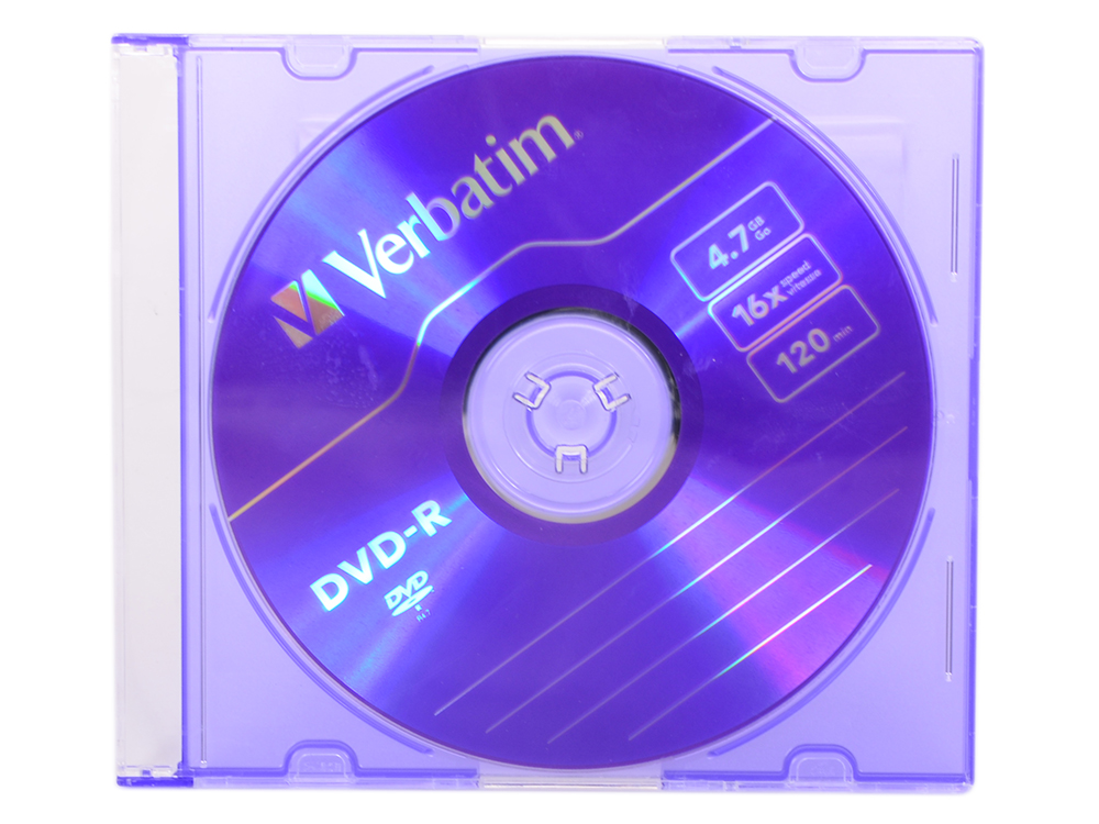 DVD-R Verbatim 4.7Gb 16х Slim dvd r vs 4 7gb 16х 10шт cake box