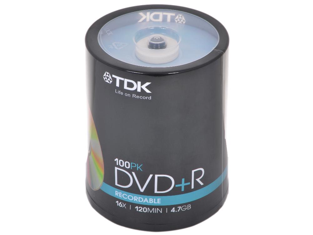 DVD+R TDK 4.7Gb 16x 100шт Cake Box dvd r vs 4 7gb 16х 10шт cake box