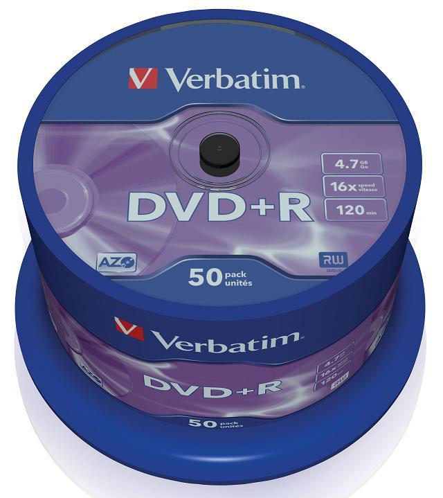 Картинка для DVD+R Verbatim 4.7Gb 16x 50шт Cake Box