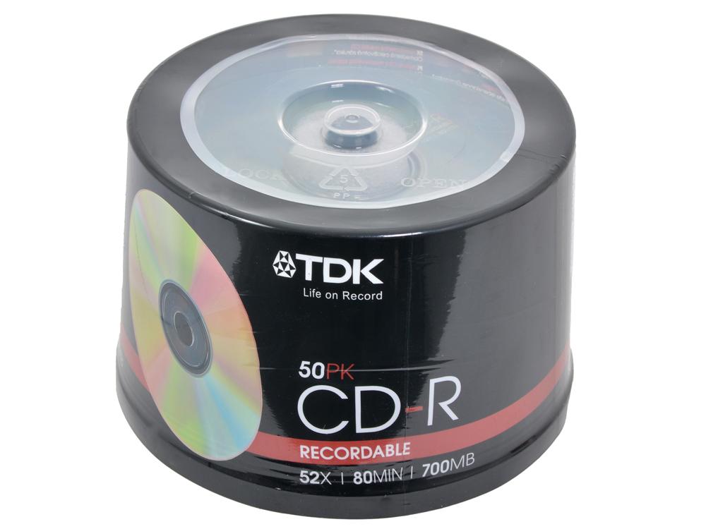 CD-R ТDK 700Mb 52х 50шт Cake Box