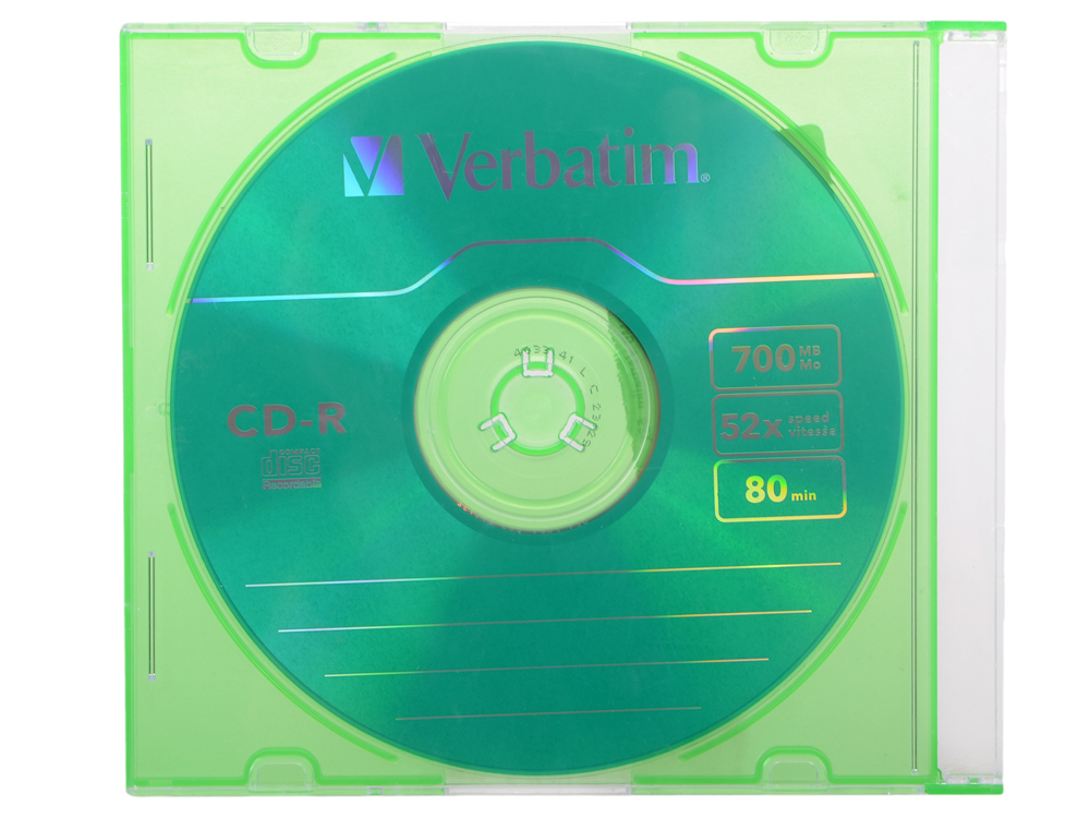 CD-R Verbatim 700Mb 52x Slim Color
