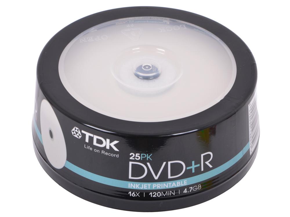 DVD+R TDK 4.7Gb 16x 25шт Cake Box Printable