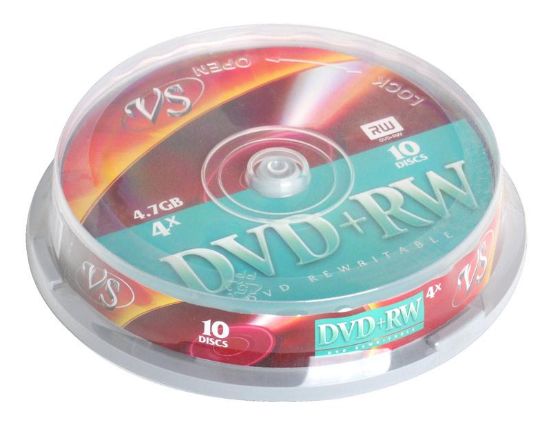 DVD+RW VS 4.7Gb 4х 10шт Cake Box