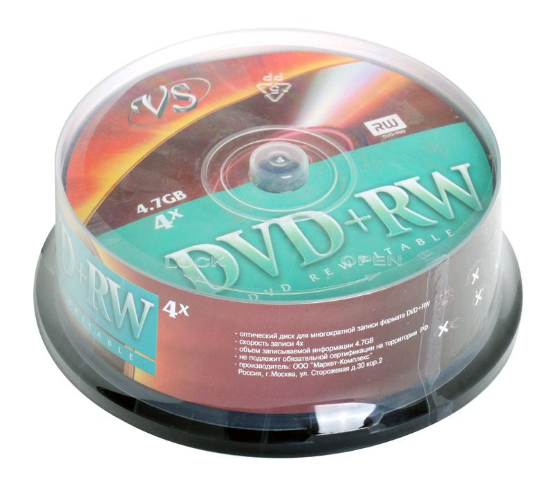 DVD+RW VS 4.7Gb 4х 25шт Cake Box