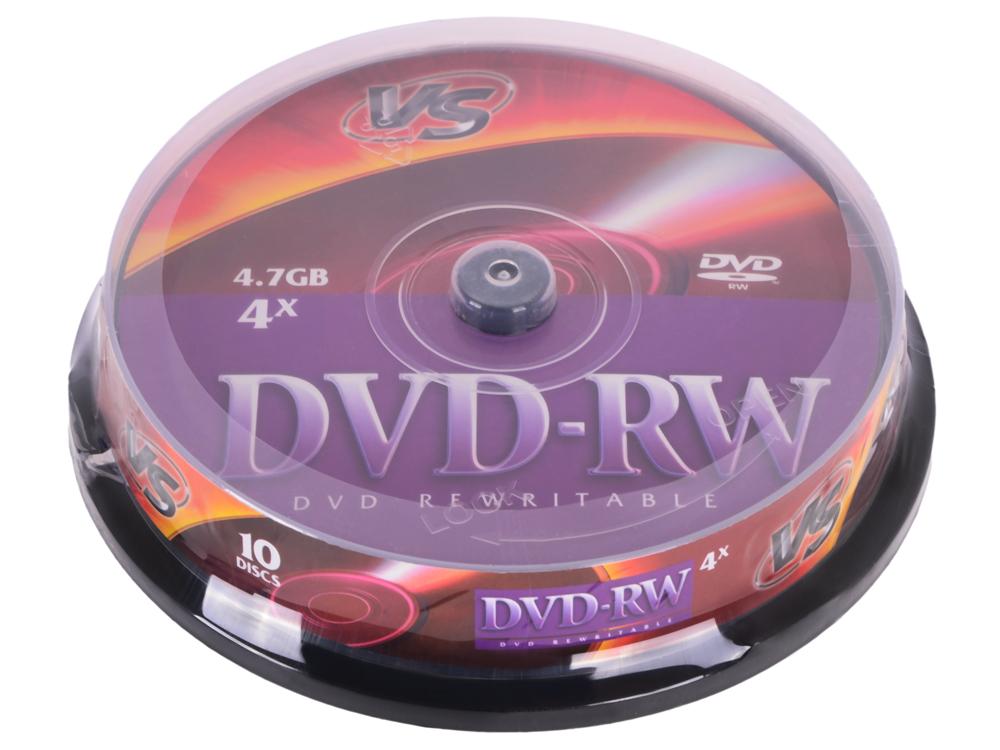 DVD-RW VS 4.7Gb 4х 10шт Cake Box