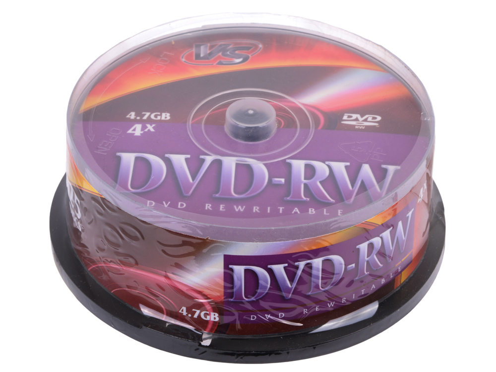 DVD-RW VS 4.7Gb 4х 25шт Cake Box dvd r vs 4 7gb 16х 10шт cake box