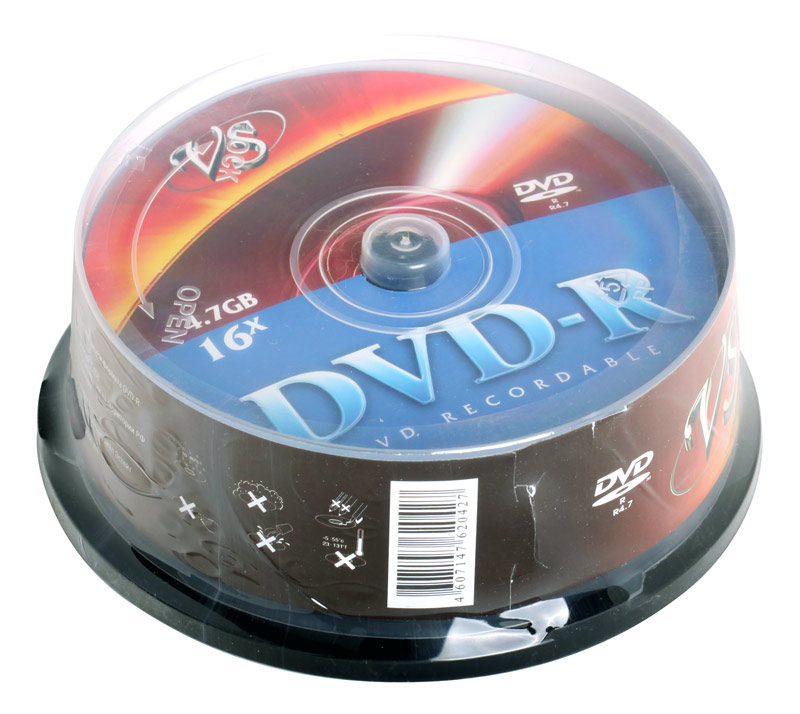 DVD-R VS 4.7Gb 16х 25шт Cake Box dvd r vs 4 7gb 16х 10шт cake box