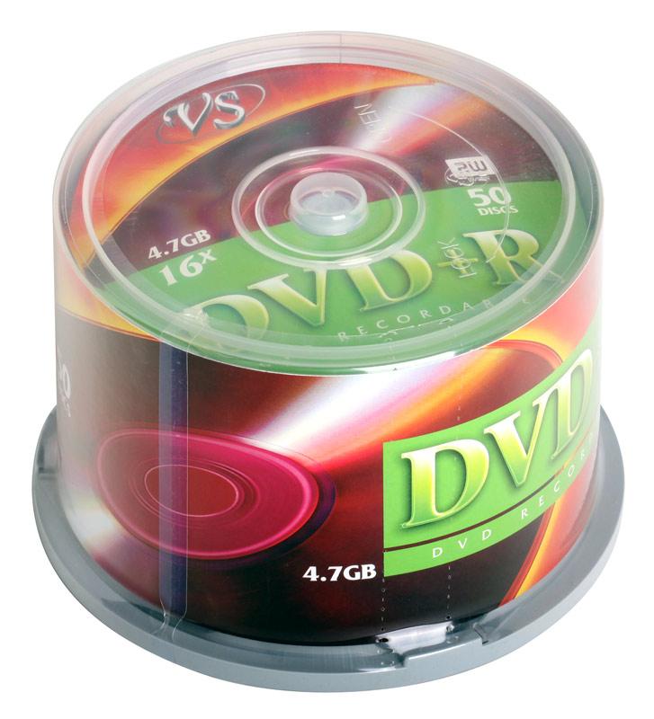 DVD+R VS 4.7Gb 16х 50шт Cake Box
