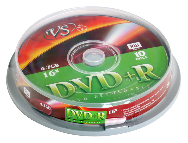DVD+R VS 4.7Gb 16х 10шт Cake Box dvd r vs 4 7gb 16х 10шт cake box