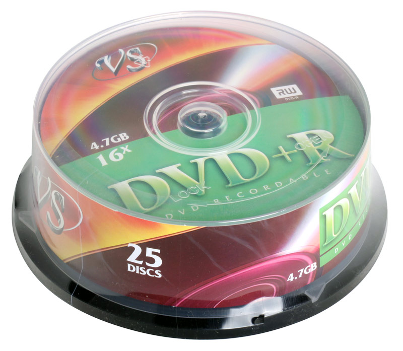 DVD+R VS 4.7Gb 16х 25шт Cake Box dvd r vs 4 7gb 16х 10шт cake box