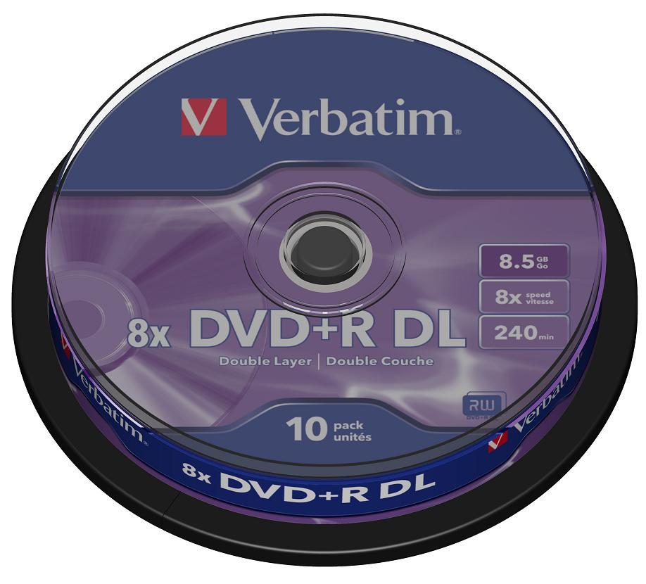 DVD+R Verbatim 8.5Gb 8x Dual Layer 10шт Cake Box