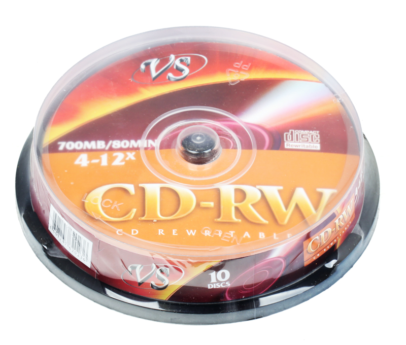 CD-RW VS 700Mb 12х 10шт CakeBox