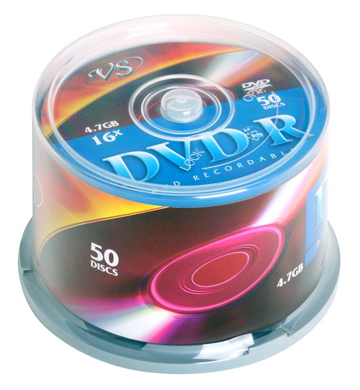 DVD-R VS 4.7Gb 16х 50шт Cake Box