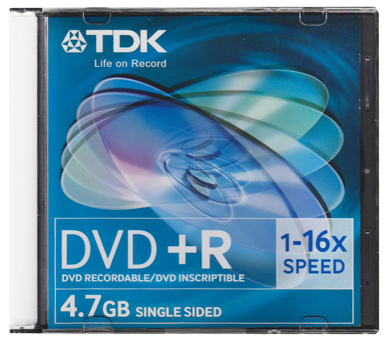 DVD+R TDK 4.7Gb 16x Slim цена и фото