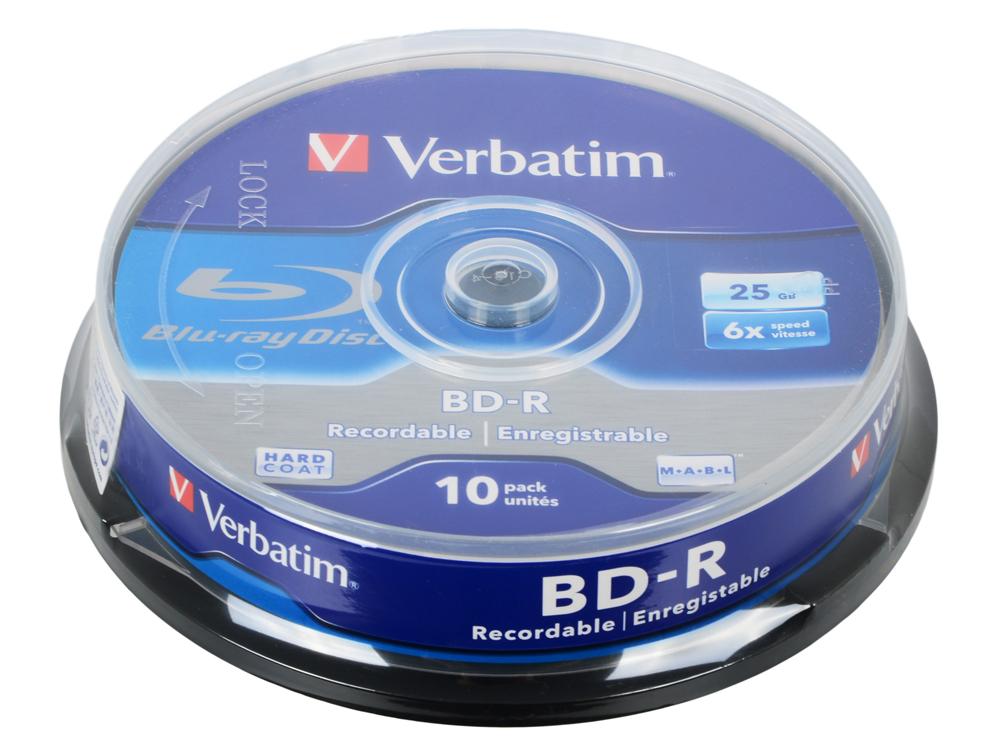 BD-R Verbatim 25Gb 6x 10шт Cake Box