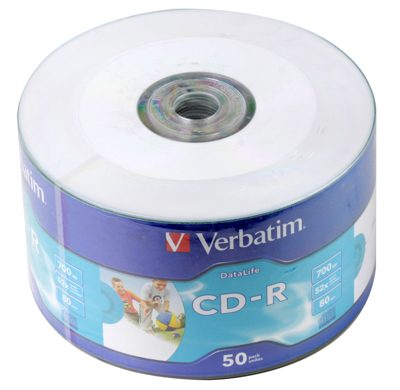 CD-R Verbatim 700Mb 52x DL Crystal AZO 50шт Shrink Print verbatim music cd r в киеве