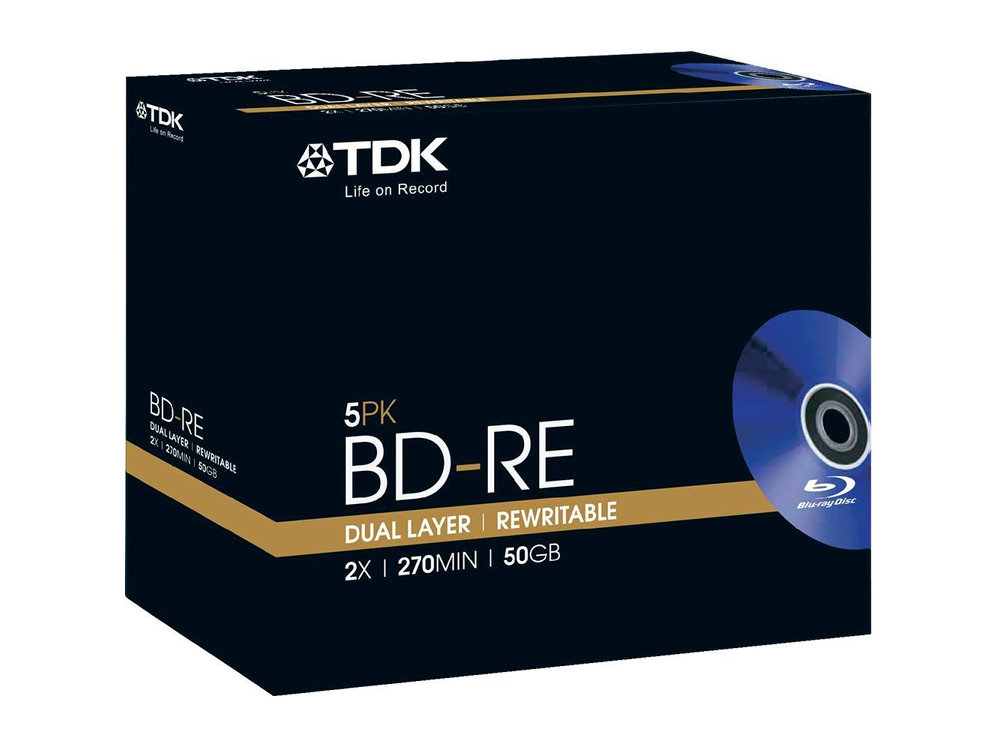 BD-RE TDK 50Gb 2x Double Layer Jewel (упаковка 5 шт)