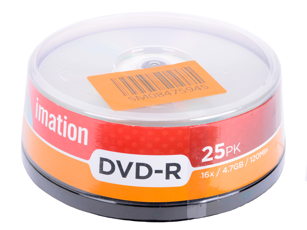 Диски DVD-R Imation 16x 4.7Gb Spindle 25шт 73000019460 диски cd dvd thunis dvd r dvd r 16x 25