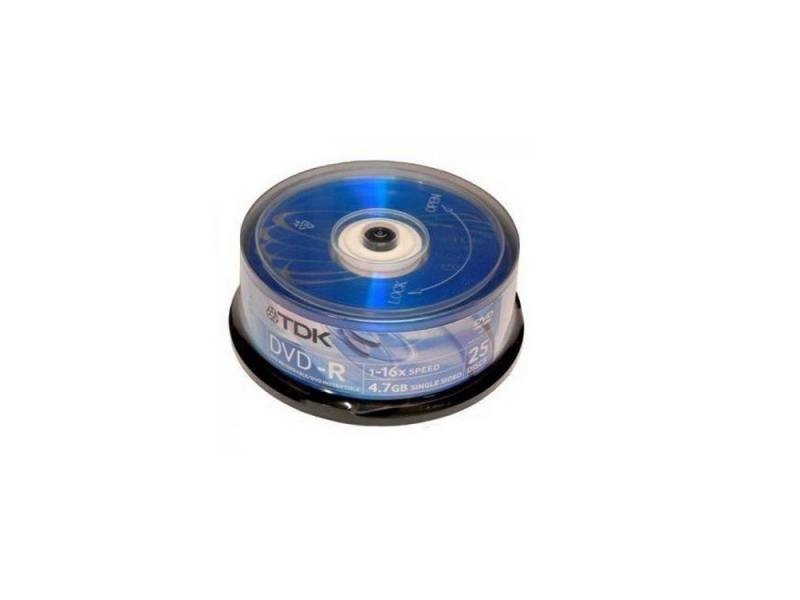 Диски DVD-R TDK 16x 4.7Gb CakeBox 25шт DVD-R47CBED25