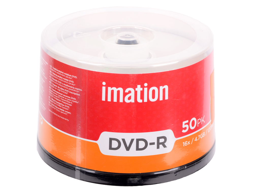 Диски DVD-R Imation 16x 4.7Gb Spindle 50шт 73000019478 73000022910 диски cd dvd thunis dvd r dvd r 16x 25