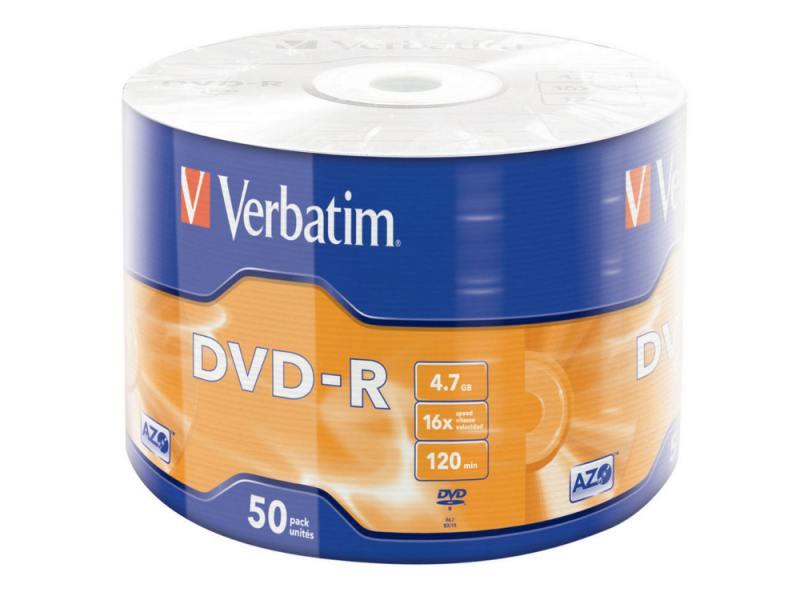 Диски DVD-R Verbatim 16x 4.7Gb Wrap Spindle 50шт 43788 зажим соединит изолирующий 1 3мм 50шт серый