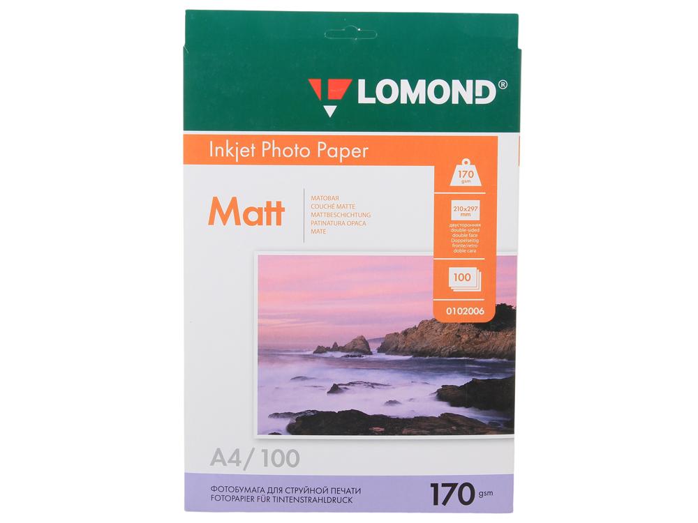 0102006 бумага LOMOND (A4, 170гр, 100л) Photo Матовая/Матовая genius hs 300a silver