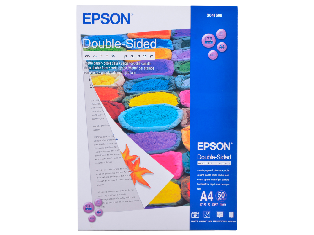 S041569 бумага EPSON (А4, 50л, 178g) Double-Sided Matte ywxlight double sided rgb led light sword
