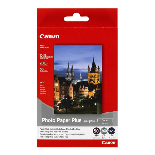 Фото бумага Canon SG-201 4x6 260 г\м2 50 листов бумага canon sg 201 10х15см 260 г кв м полуглянцевая 1686b015 50л
