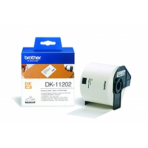 Наклейки Brother DK11202 почтовые 62х100мм (300шт) лента для печатающего устройства kgofficeservice dk11202 dk 11202 62 100 300pcs ql 1060 lable for dk11202 lables