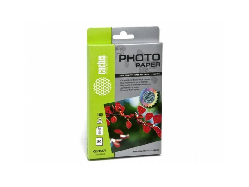 Фотобумага Cactus CS-GA618050 10x15cm/180г/м2/50л. глянцевая для струйной печати