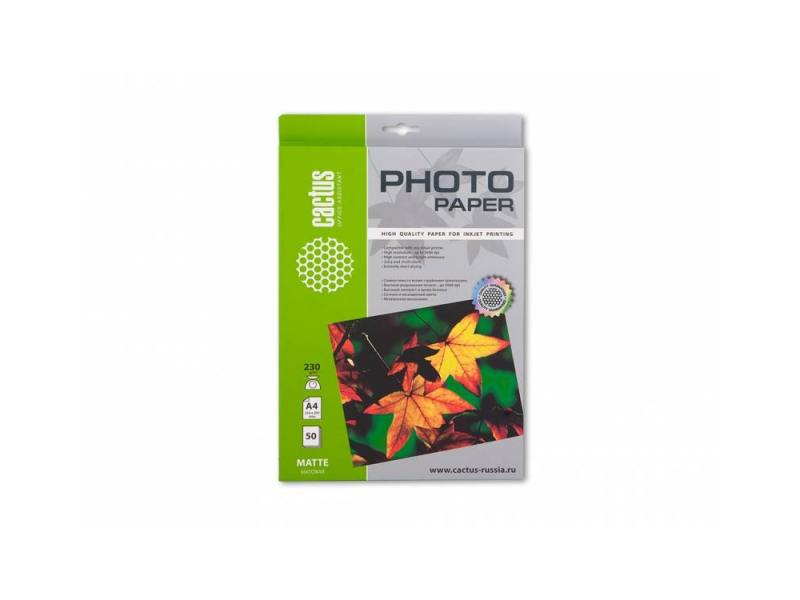 Фотобумага Cactus CS-MA423050 матовая A4 230 г/м2 50 листов