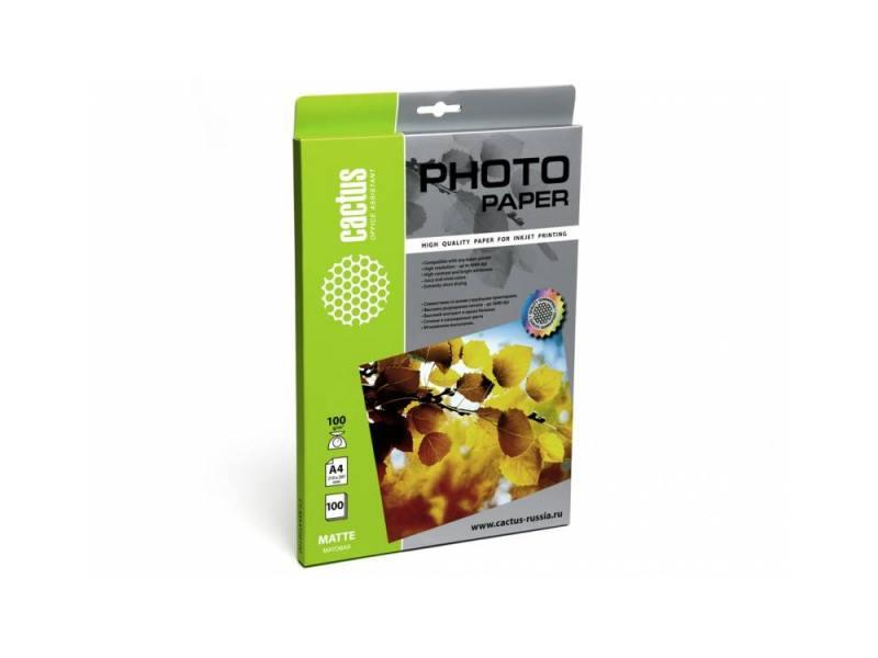 Фотобумага Cactus CS-MA4100100 A4/100г/м2/100л. матовая для струйной печати
