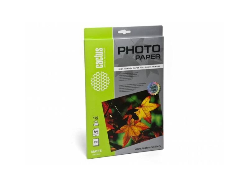 Фотобумага Cactus CS-MA417020 матовая A4 170 г/м2 20 листов