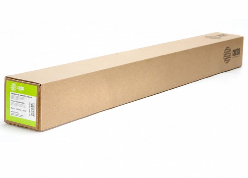 """Универсальная бумага Cactus CS-LFP80-1067457 для плоттеров без покр 42"""",1067ммх45,7м. 80 г/кв.м втулка 50,8мм (2"""")"""